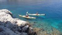 Kayak eaux turquoises varoises